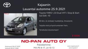 Tämän viikon lauantai autona Toyota Yaris. Tule myös paikalle tai ole yhteydessä niin keskustellaan talvirengas tarjouksista. Ka...