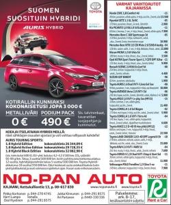 No-Pan Auto tarjoaa sähäkät tarjoukset rallikauden kunniaksi.