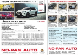 Toyotan viikonloppunäyttely 12.-13.1.