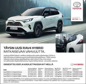 Uusi RAV4 Hybrid ja Varmat Vaihtoautot Kajaanissa.