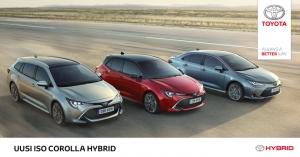 Maailman suosituin on nyt uudestisyntynyt. Uusi, iso Corolla Hybrid ylittää kevyesti kaikki odotukset. Touring Sports. Hatchback. Sedan. Kaikki kolme ennakkomyynnissä nyt meillä. Tervetuloa innostumaan.