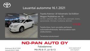 Hyvää alkavaa viikonloppua kaikille!  Lauantai automme Kajaanissa on Toyota Avensis vm. 2010, tämä tilava koko perheen auto sopi...